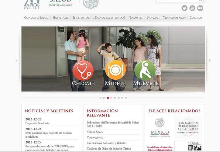 Salud es una de las dependencias que muestra mayor avance en la modernización de los procesos y trámites. (Captura de pantalla)