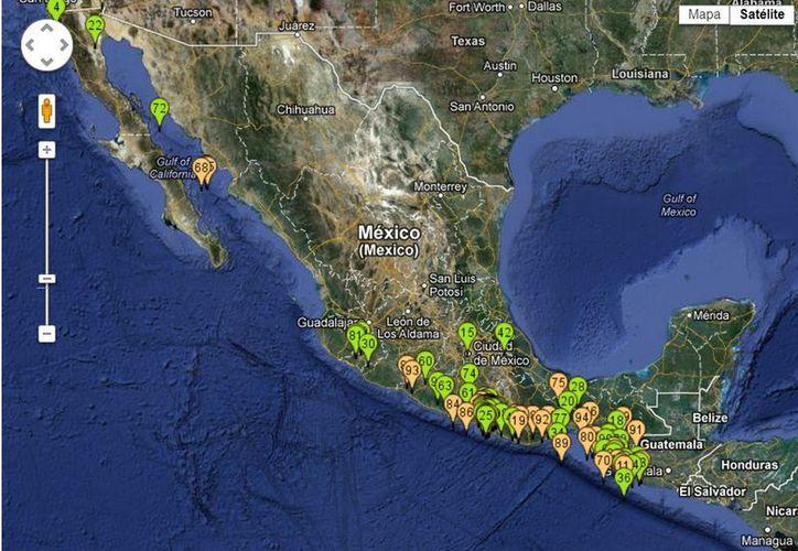 Con frecuencia, Guerrero y Oaxaca son epicentros de intensos sismos. (ssn.unam.mx)