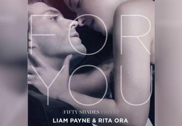 Liam Payne y Rita Ora cantan el tema principal de 50 Sombras Liberadas. (Twitter)