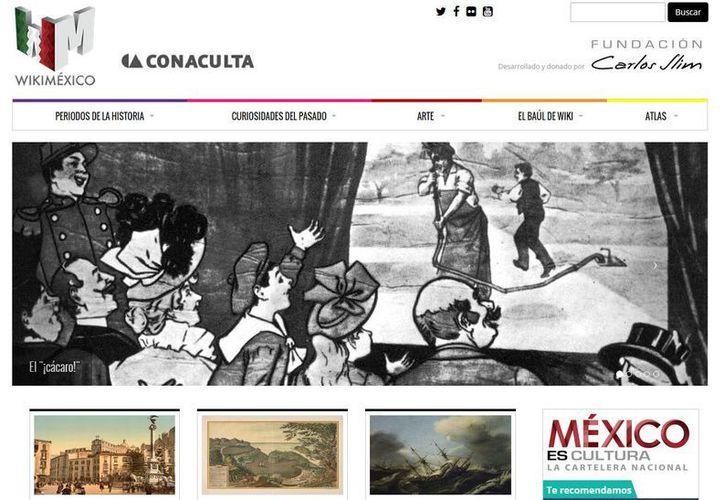En WikiMéxico se pueden encontrar secciones como 'Periodos de la historia', 'Curiosidades del pasado', 'Arte', 'El baúl de wiki' y un atlas de la República Mexicana. (wikimexico.com)