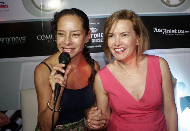 Ilse e Ivonne se mostraron emocionadas por su concierto de esta noche. (Milenio Novedades)