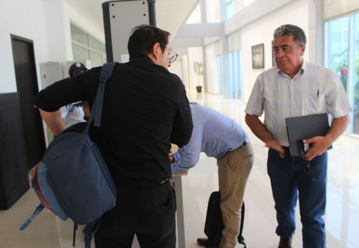 Acudió Gabriel Mendicuti Loría a la sala cinco del Juzgado Penal Oral, del Poder Judicial del Estado. (Joel Zamora/SIPSE)