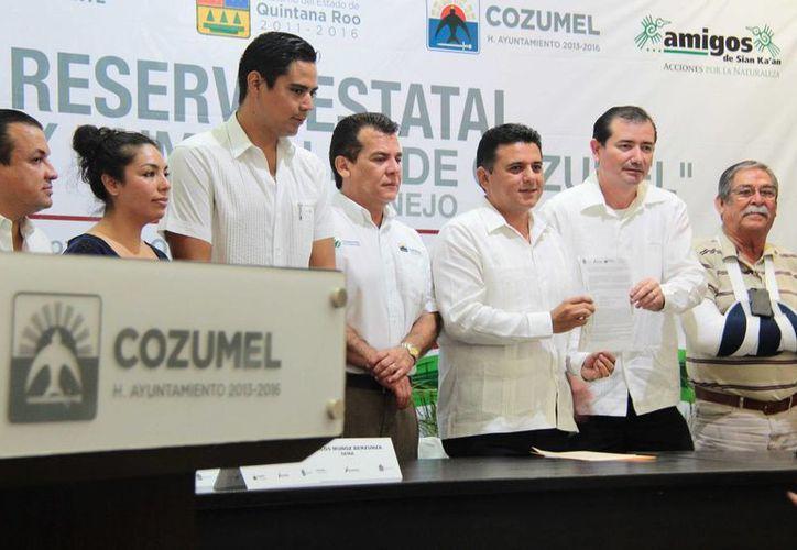 """Ayer se presentó el Programa de Manejo de la Reserva Estatal """"Selvas y Humedales de Cozumel"""".  (Gustavo Villegas/SIPSE)"""