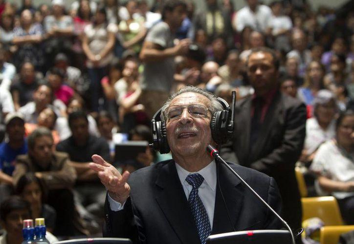 """""""Yo no quería que se me dijera genocida porque nunca lo he sido, nunca lo he ordenado"""", expresó Ríos Montt durante su declaración. (Agencias)"""