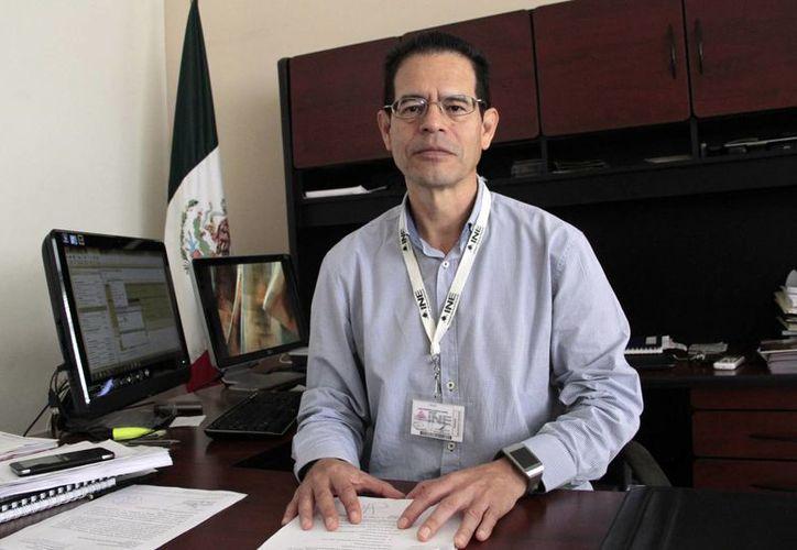 Demetrio Cabrera Hernández dijo que el auditor llegó a la Junta Distrital Ejecutiva 03 del INE. (Tomás Álvarez/SIPSE)