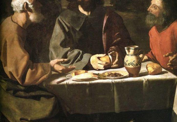 La modesta cena de unos caminantes en una sencilla casa de Emaús, revive la solemne escena de la última Cena terrena de Cristo. (andaluciayamerica.com)