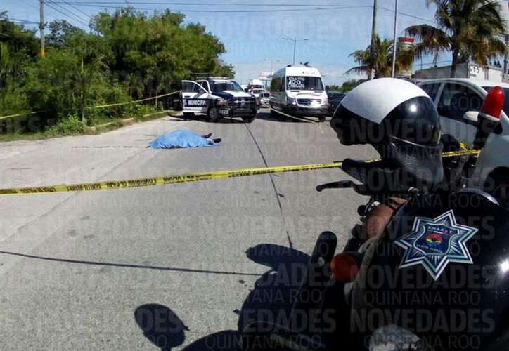 Policías Municipales arribaron a la zona. (Eric Galindo/ SIPSE)