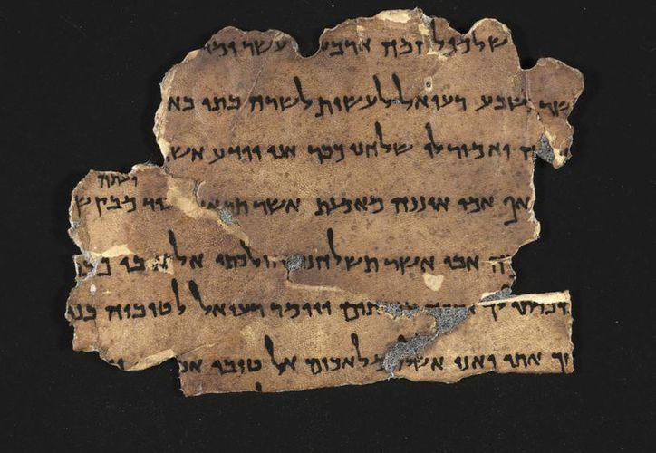 """Fotografía facilitada por la Autoridad de Antigüedades de Israel de uno de los manuscritos incluídos en la """"Biblioteca Digital de los Manuscritos del Mar Muerto"""". (EFE)"""