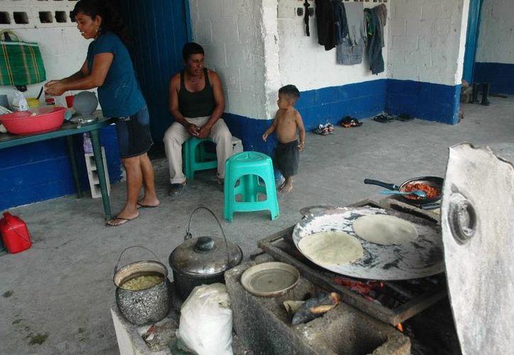 """""""No tenemos dinero ni para comprar los foquitos de navidad"""", son algunas de las frases que se escuchan entre las familias de la zona. (Edgardo Rodríguez/SIPSE)"""
