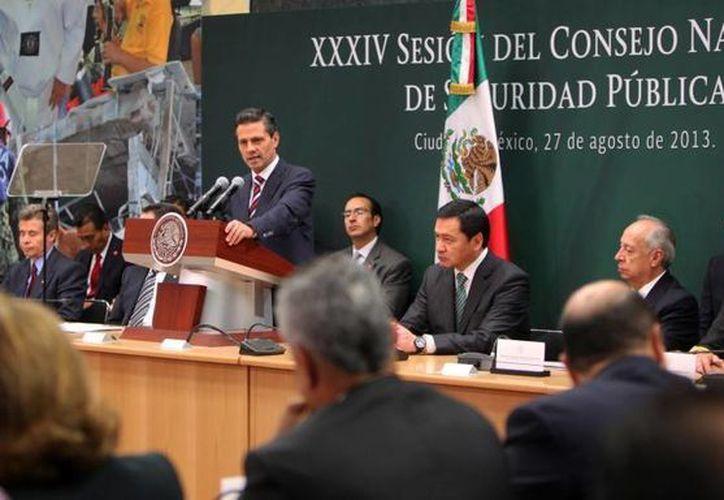 Peña Nieto: la fuerza del estado debe medirse por su capacidad de aplicar la ley con la menor violencia posible. (presidencia.gob.mx)