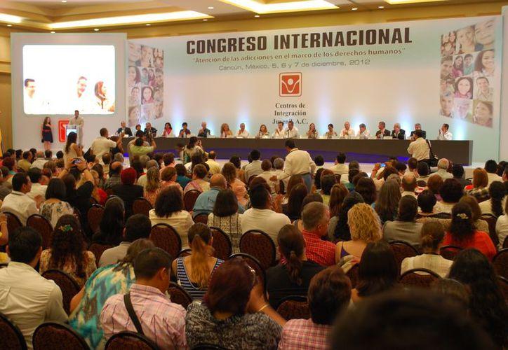 Concluye Congreso Internacional de Adicciones en el marco de los derechos humanos. (Tomás Álvarez/SIPSE)