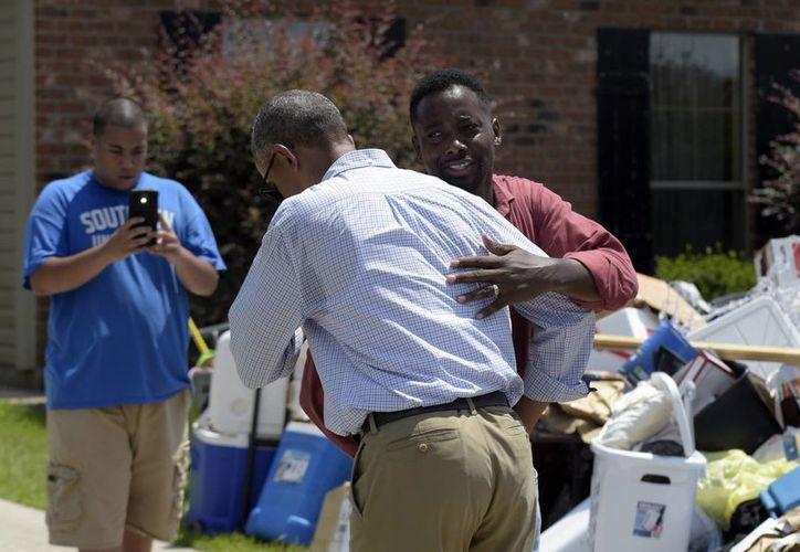 El presidente Obama asegura que la recuperación de la zona inundada de Louisiana es una prioridad para su gobierno. (AP/Susan Walsh)