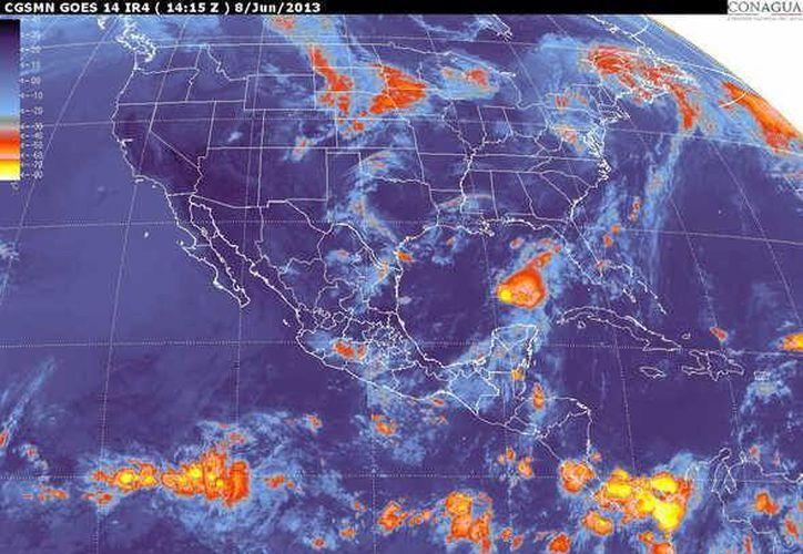 Soplarán vientos variables de 15 a 30 km/h con rachas de 45 km/h al momento de las lluvias. (Cortesía/SIPSE)