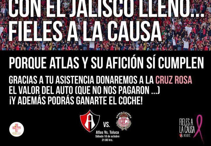 Así hizo mofa el Atlas de la apuesta que no cumplió Jorge Vergara, dueño de Chivas de Guadalajara, que está en serios problemas de descenso.