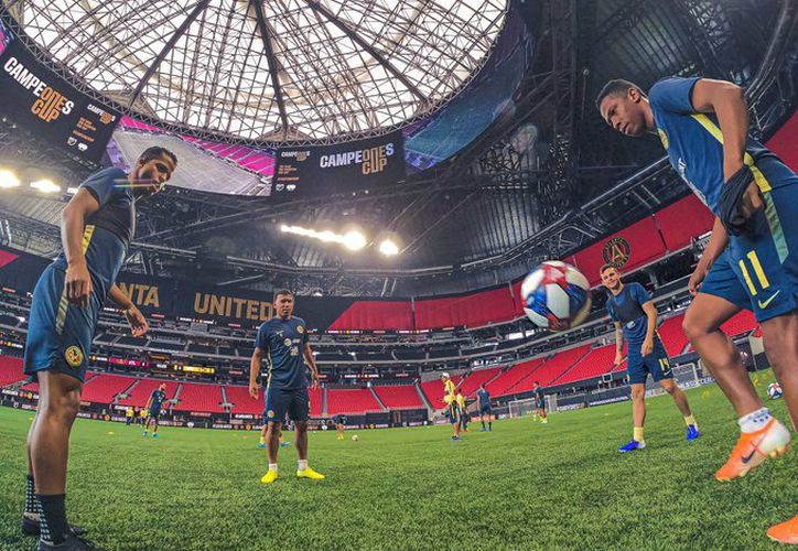 Las Águilas ya están en Atlanta. (Foto del Club América)