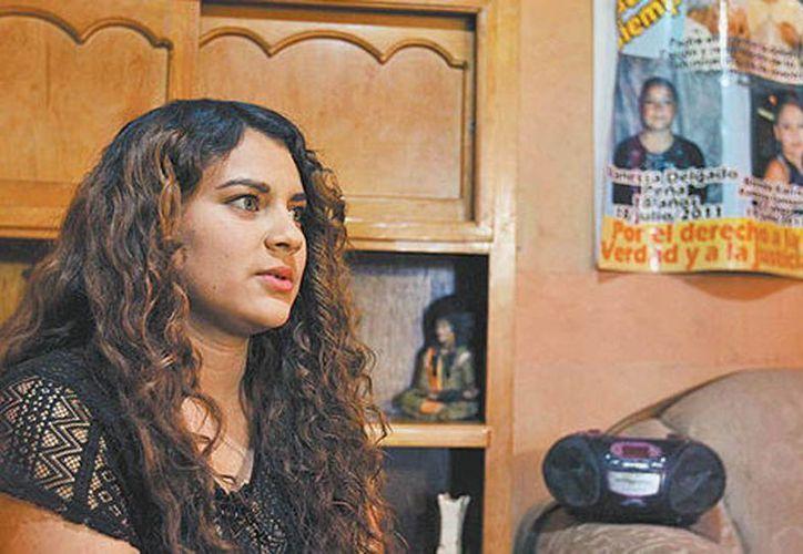 Damaris es hermana de una joven que fue secuestrada por un grupo armado en 2011 en Ciudad Cuauhtémoc. (Héctor Téllez/Milenio)