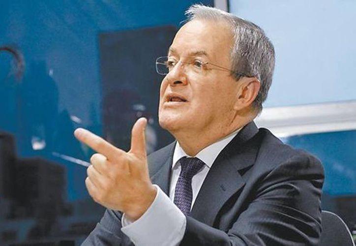 """El comisionado nacional de Seguridad en la entrevista para """"El Asalto a la Razón"""". (Martín Salas/Milenio)"""