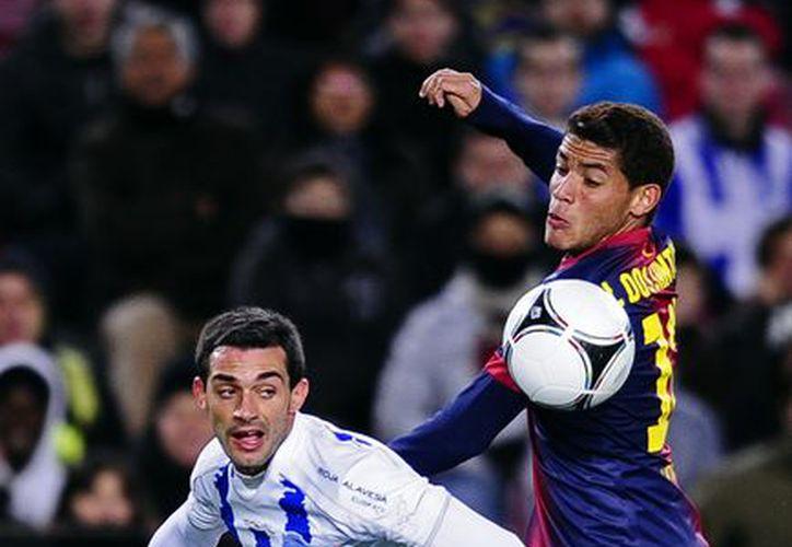 Jona participó en el partido en el que el Barça derrotó 3-1 al Deportivo Alavés. (Foto: Agencias)