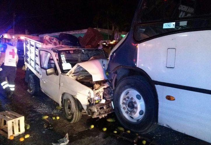 El accidente se registró después de las 4 de la mañana. (Redacción/SIPSE)