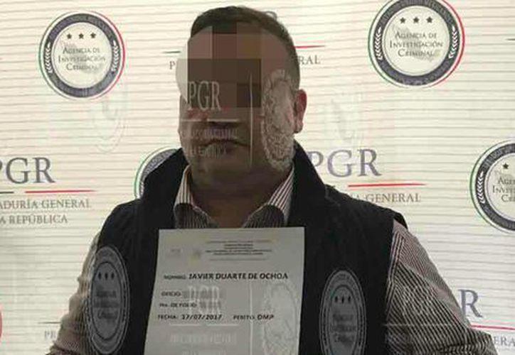 El ex gobernador de Veracruz, Javier Duarte de Ochoa fue acusado por operaciones con recursos de procedencia ilícita y de delincuencia. organizada.(PGR)