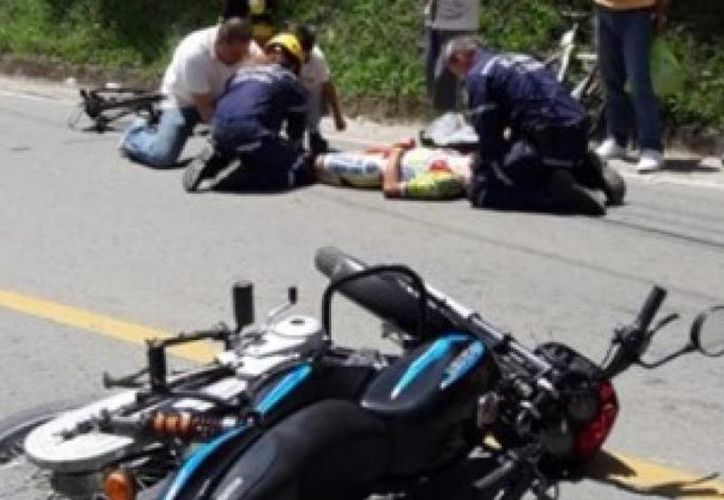 Tres ciclistas resultados lesionados. (Internet)