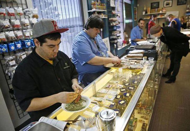 Votantes en Colorado y Washington aprobaron en 2012 la venta de marihuana para uso recreativo, y estas ventas comenzaron primero en Colorado, en enero. (Archivo/Agencias)