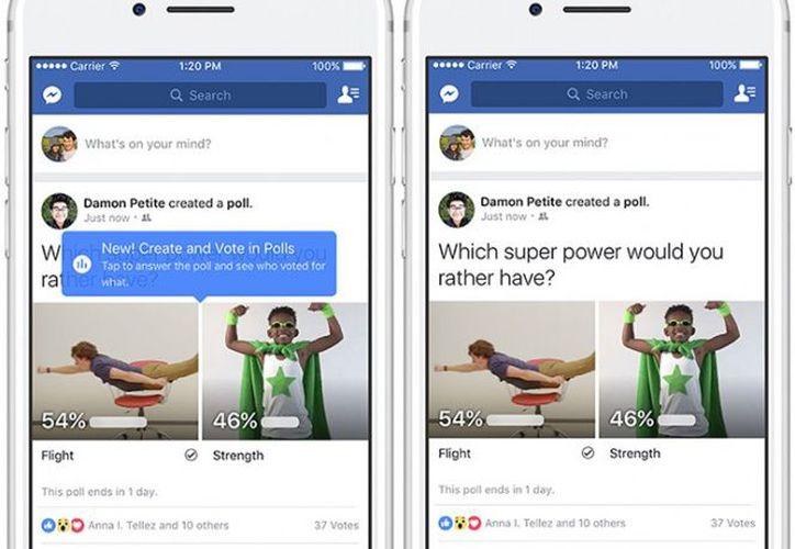 La nueva herramienta de encuestas apareció primero en Messenger e Instagram Stories. (Contexto)