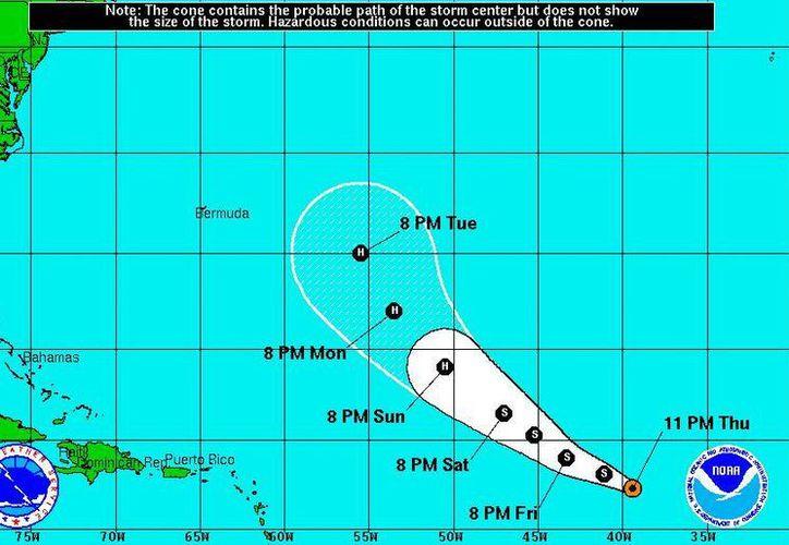 La trayectoria de 'Edouard' no representa amenaza para costas mexicanas. (Foto: NOAA)