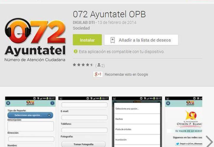 La aplicación ya está disponible en el portal Google Play; es gratuita. (Cortesía/SIPSE)