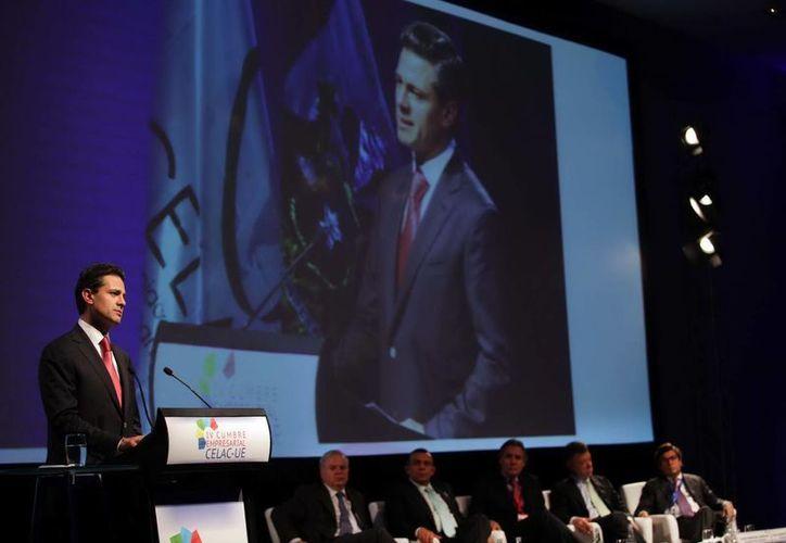 El presidente Enrique Peña Nieto participó en la Clausura de la IV Cumbre CELAC-UE. (Notimex/Foto de archivo)