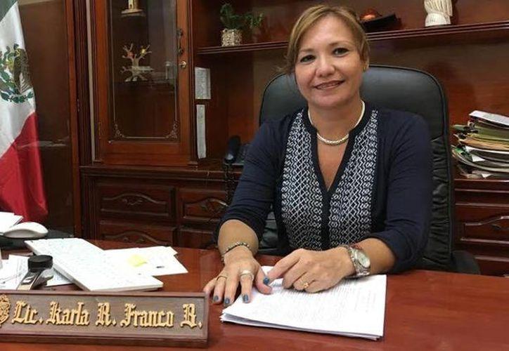 En la primera etapa el programa 'Soy México' del Registro Civil atenderá a los menores de edad, se considera que ampliará su cobertura una vez que avance en este objetivo. En la foto, la directora general del Registro Civil de Mérida, Karla Franco Blanco. (SIPSE)