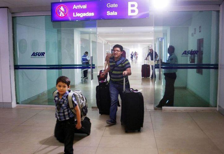 En estas fechas se registra fuerte actividad en el aeropuerto de Mérida. (Milenio Novedades)