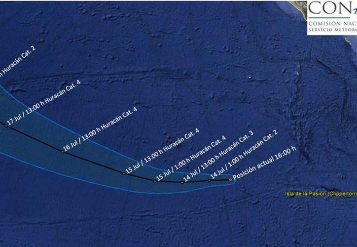 'Fernanda' evoluciona a huracán categoría 1. (Twitter/@conagua_clima).