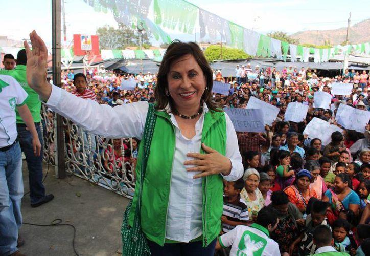 Sandra Torres es candidata de Unidad Nacional de la Esperanza UNE a la presidencia guatemalteca. (sandratorrescassanova.com.gt)