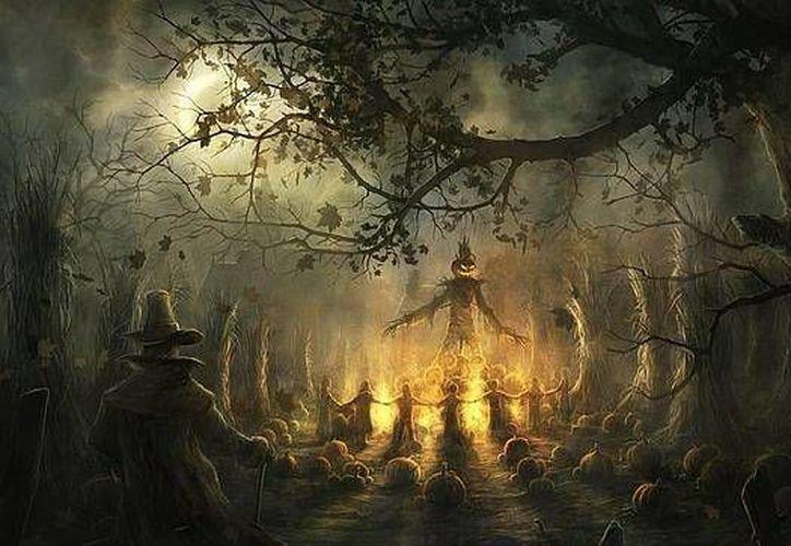 En la noche de Halloween se reúnen las brujas en los montes y bosques de todo el mundo, según se dice. (Jorge Moreno/SIPSE)