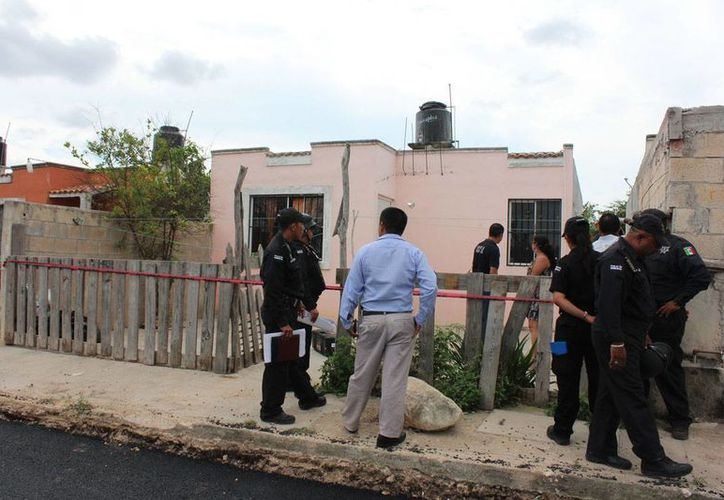 En este predio del fraccionamiento La Joya, en Kanasín, se privó de la vida una mujer policía. (Aldo Pallota)