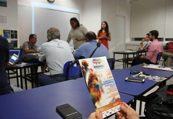 """La carrera """"Coloréate 5K con Novedades Quintana Roo"""" fue presentada durante la reunión. (Consuelo Javier/SIPSE)"""