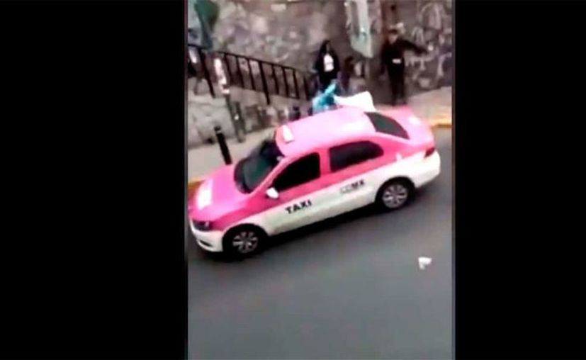 El sujeto supuestamente había robado al taxista. (Internet)