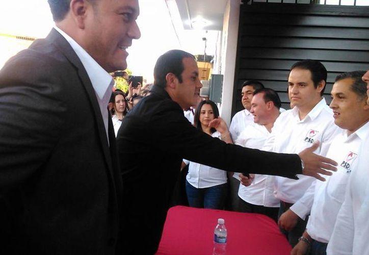 Cuauhtémoc Blanco durante su registro como precandidato por el PSD para contender por la alcaldía de Cuernavaca. La FMF dio a conocer su postura al respecto. (zonacentronoticias.com)