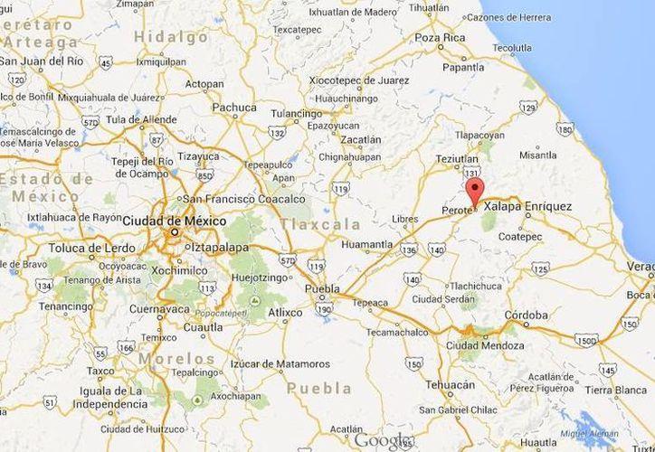 El choque entre autoridades y zetas se registró en El Sabinal, Perote, en Veracruz. (Google Maps)