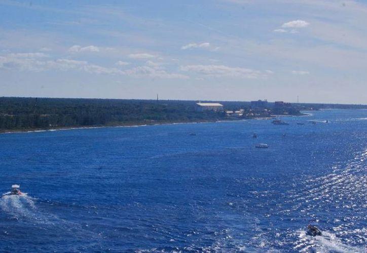 El terreno se encuentra dentro del Área Natural Protegida Parque Nacional Arrecifes de Cozumel. (Gustavo Villegas/SIPSE)