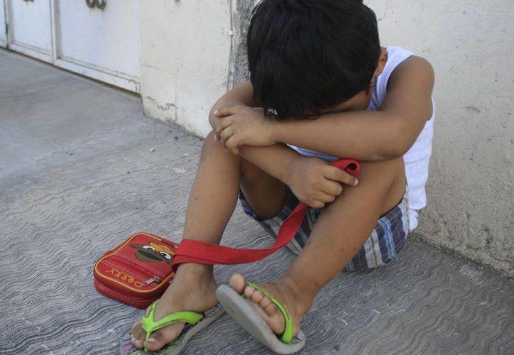 Al menos 10 niños son rescatados de los 40 que se reportan al mes. (Harold Alcocer/SIPSE)