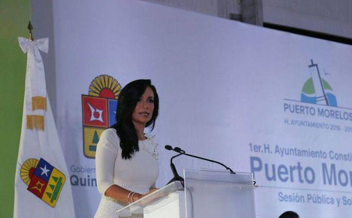 """Laura Fernández señaló de manera categórica que """"defenderá el interés de los portomorelenses"""", pues son un municipio nuevo. (Redacción/SIPSE) Laura Fernández señaló de manera categórica que """"defenderá el interés de los portomorelenses"""", pues son un municipio nuevo. (Redacción/SIPSE)"""