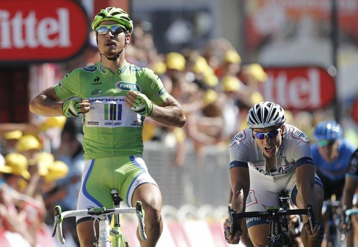 Sagan, de 23 años, superó sobre la meta al alemán John Degenkolb. (Agencias)