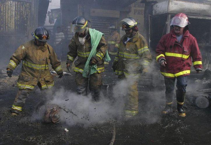 El fuego, que aún combatían los bomberos pasadas las 06:40 horas habría comenzado cerca de las 02:30 horas. (EFE/Archivo)