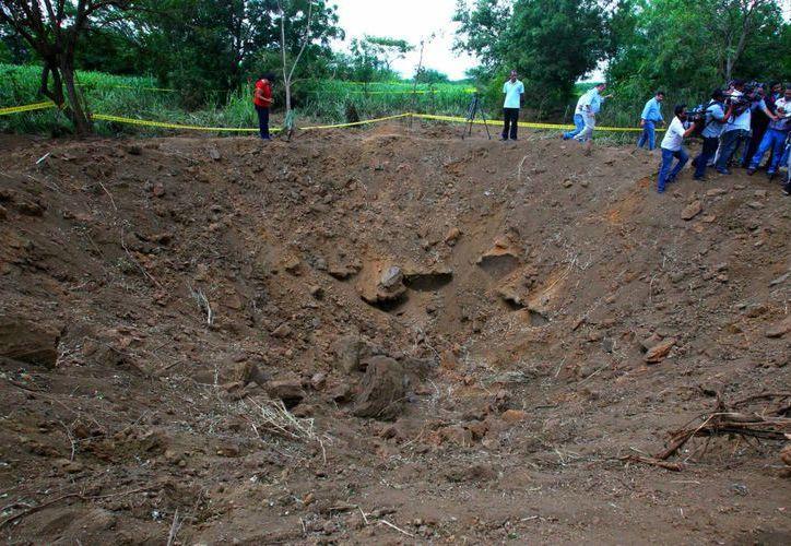 Solamente personal del gobierno de Nicaragua y la prensa oficialista ha podido acceder a la zona del impacto del meteorito. (EFE)