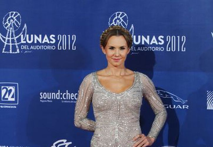 La actriz Michelle Vieth, durante la alfombra roja de las Lunas del Auditorio en octubre de 2012. (Archivo NotimeX)