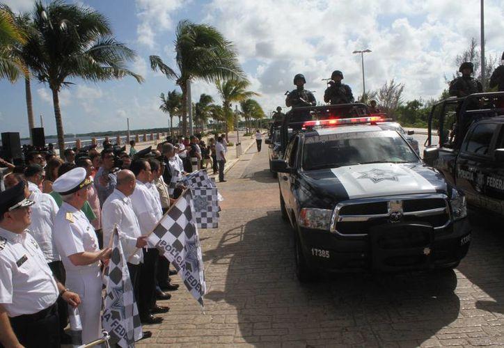El operativo comenzó el día de ayer en el Malecón Tajamar. (Sergio Orozco/SIPSE)