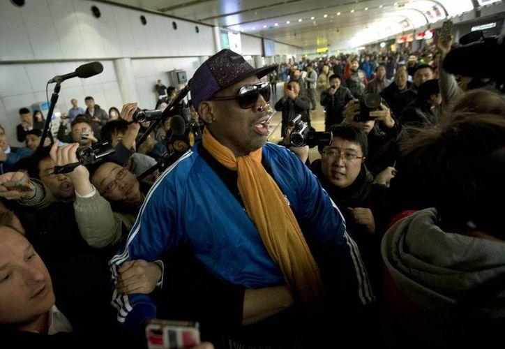Apenas regresó de Norcorea, la ex estrella de la NBA se refugió en un centro de rehabilitación para superar su viejo problema con el alcohol. (Agencias)