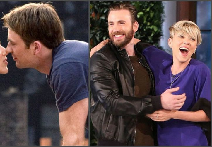 Chris Evans y Scarlett Johansson parecen ser muy buenos amigos. (Foto: AP)